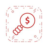 Icône de vecteur de recherche d'argent