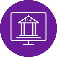 Icona di vettore di Internet Banking