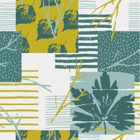 Modèle sans couture automne abstraite avec des feuilles. Fond de vecteur pour diverses surfaces.