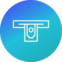 Retiro de efectivo Vector icono