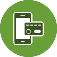Mobile banking Vector Icon