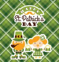 Le jour de la Saint-Patrick. Illustration de plat Vector
