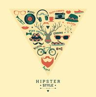 Flat design vektor illustration av hipster stil.
