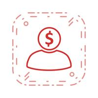 banker vektor ikon