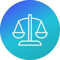 Icono de vector de equilibrio