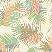 Naadloos exotisch patroon met tropische installaties en geometrische achtergrond.