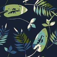 Abstrata sem costura padrão com folhas. Fundo do vetor para a vária superfície.