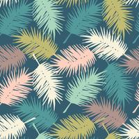 Seamless exotic pattern with palm leaves . Vector