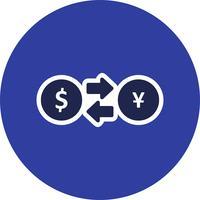 Ícone de vetor de taxa de câmbio