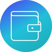 Ícone de vetor de carteira