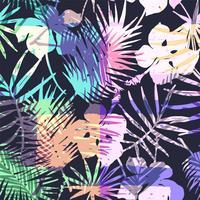 Modèle exotique sans couture avec palmier tropical de couleur vive.