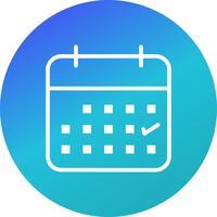 Zakelijke kalender Vector Icon
