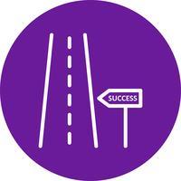 Weg zum Erfolg Vektor Icon