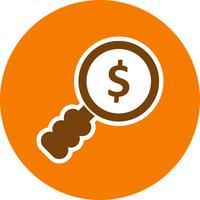 pengar sök vektor ikon