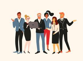 Ilustração de Vectior de pessoas do escritório. Trabalhadores de escritório, empresários, gerentes.