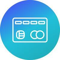 Cartão de crédito ícone Vector