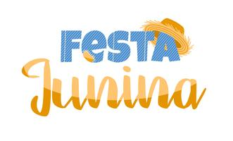 Latin American holiday, the June party of Brazil. Lettering design. vector