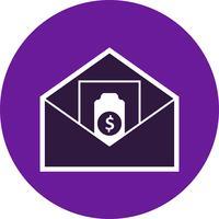 L'invio di icona di vettore di denaro