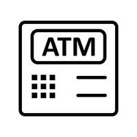 Atm Machine Vector Icon