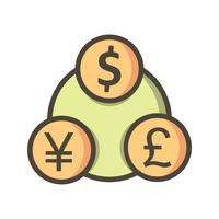 Money Flow Vector Icon