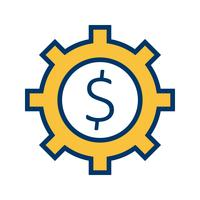 Business cog Vector Icon