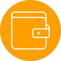 plånbok vektorikonen