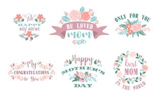 Happy Mothers Day. Vector emblems