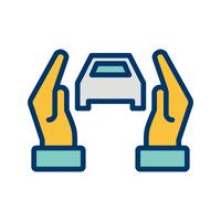 Car insurance Vector Icon