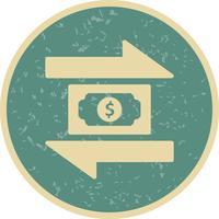 Icona di vettore di transazione