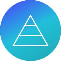 pyramidvektorns ikon