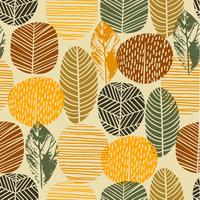 Abstract de herfst naadloos patroon met bomen. Vectorachtergrond voor diverse oppervlakte.