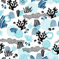 Vector sea seamless pattern.