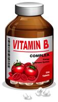A bottle of Vitamin B tablets