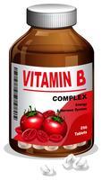 Um frasco de comprimidos de vitamina B