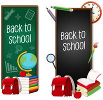 Set of back to school concept vector
