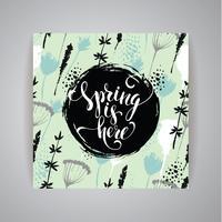 Artistic creative Hand Drawn spring Design