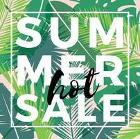 Summer sale design. Vector illustration.