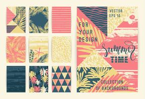 Set of summer background templates.