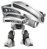Robot de diseño moderno con gran cabeza.