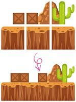 Modelo de cena de deserto do jogo Elelment