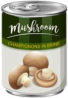 A Can of Champignons Mushroom