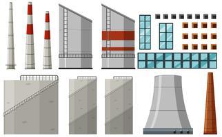 Diferentes diseños de edificio para fábrica.