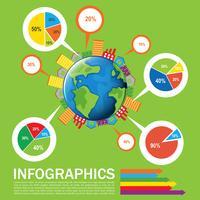 Een infographics van de aarde