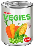 Can of mixed vegies