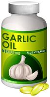 A bottle of garlic oil capsule