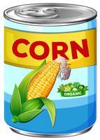 Blik van biologische maïs