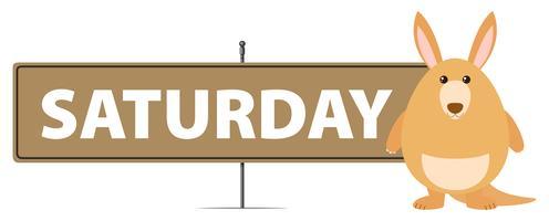 Plantilla de cartel para el sábado con canguro.