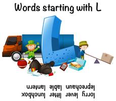 English words starting with L