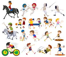 People doing different kinds of sports