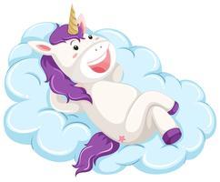 Un unicornio yacía en una nube.
